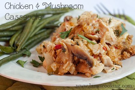 Chicken and Mushroom Casserole from @NevrEnoughThyme: Cream Of Chicken, Recipes Chicken, Mushrooms Casseroles, Chicken Soups, Thyme Recipes, Casseroles Crockpot, Lighter Version, Food Photography, Chicken Casseroles