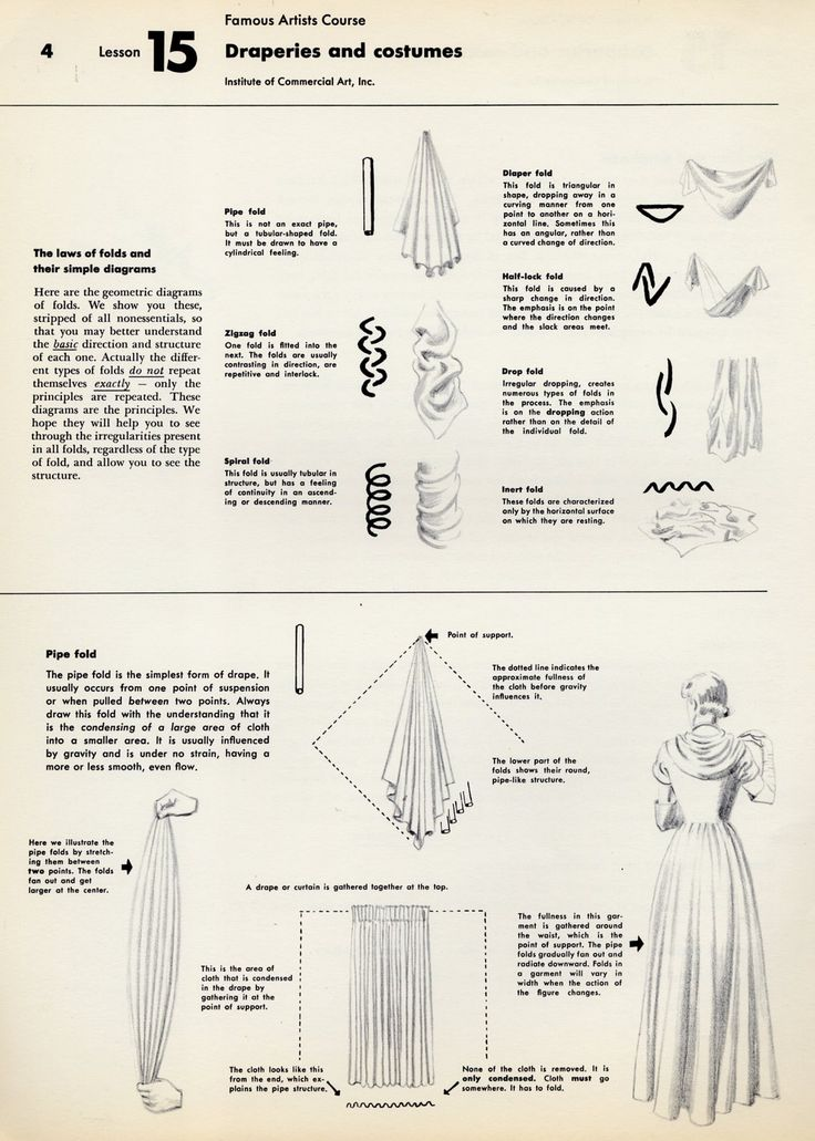 Lesson 15: Draperies and costumes from Famous Artists Course by Institute of Commercial Art, Inc.