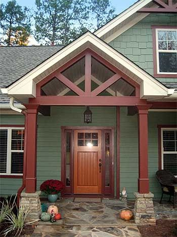 adding porticos to ranch   Open Floor Plan Split Ranch