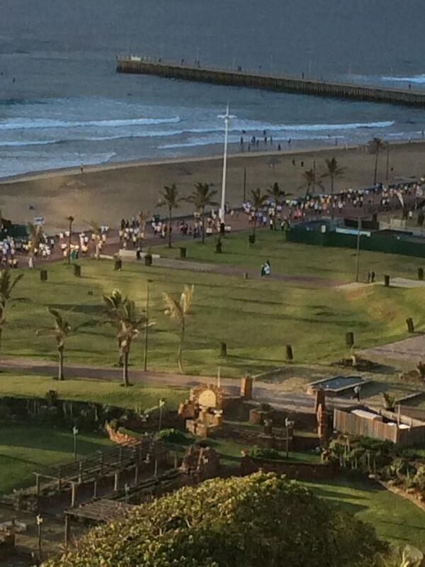 Durbs beach front looking good for Discovery East Coast Big Walk 31000 walkers well done!! #BigWalkDurban