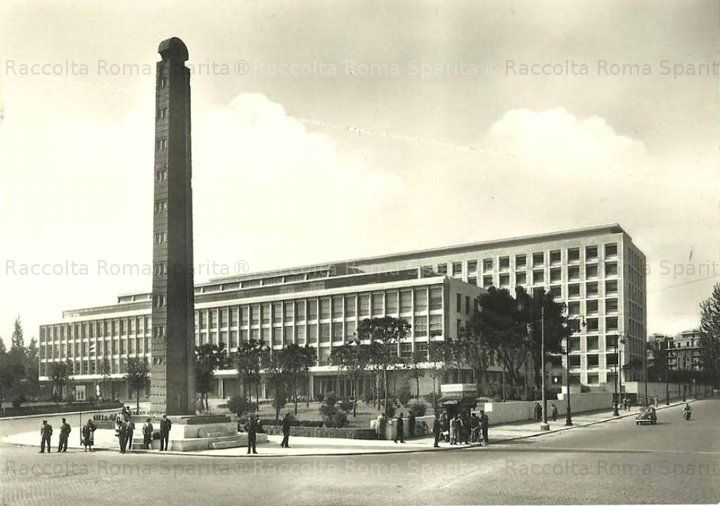 Piazza di Porta Capena – Palazzo della FAO e stele di Axum Anno: 1950 ca.