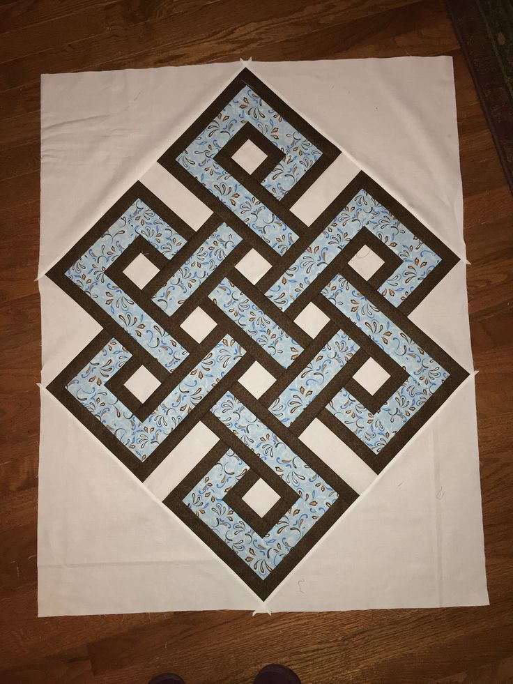 how to make a quilters knot