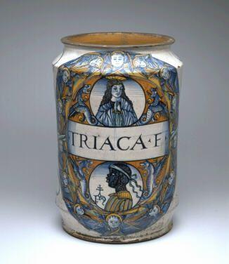 A Teriaca a reneszánsz világ egyik legnépszerűbb és legjövedelmezőbb gyógyszere volt. Az orvosságot az alkimistaműhelyben gyártották és a gyógynövények mellett állítólag belekerült egy kis pluszösszetevő is, amely végül a csodaszer erejét