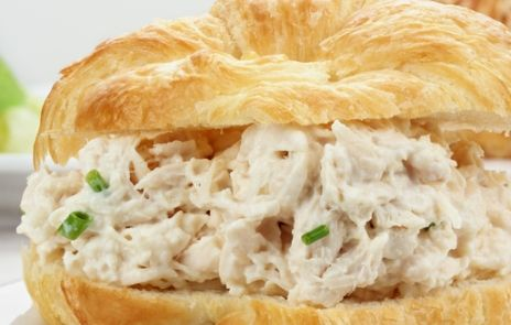 Chicken Salad ~ The ingredient combo is killer. So easy to put together and tastes wonderful in a sandwich, hollowed out tomato, or as a salad.