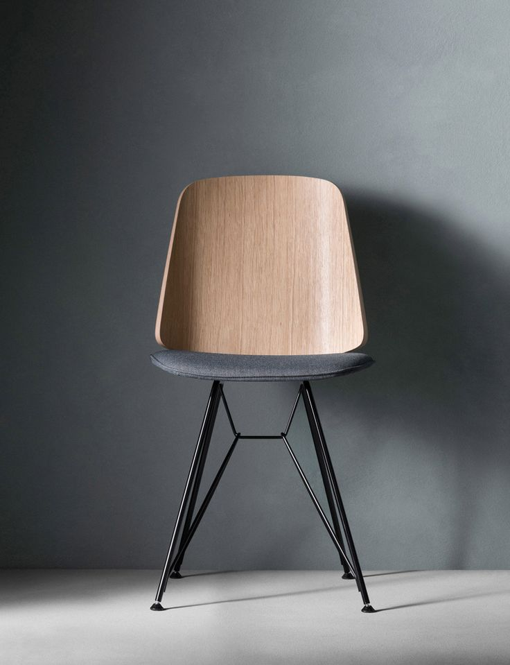 June chair for Zanotta, 2016    I designed the June chair to accompany my dining table Santiago which had been a previous collaboration with Zanotta.  The result is a lightweight dining chair with a gently faceted form and geometric outline....
