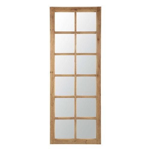 CHAUVIGNY houten venster spiegel H 198 cm