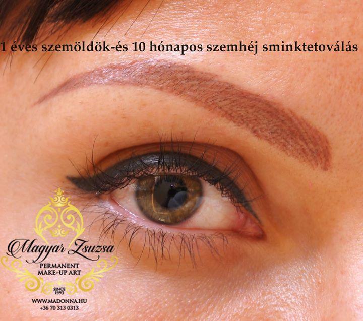 1 éves szemöldök sminktetoválás és 10 hónapos szemhéj sminktetoválások: Magyar Zsuzsa Sminktetováló specialista kozmetikus mester frissen itt: http://ift.tt/294PL63