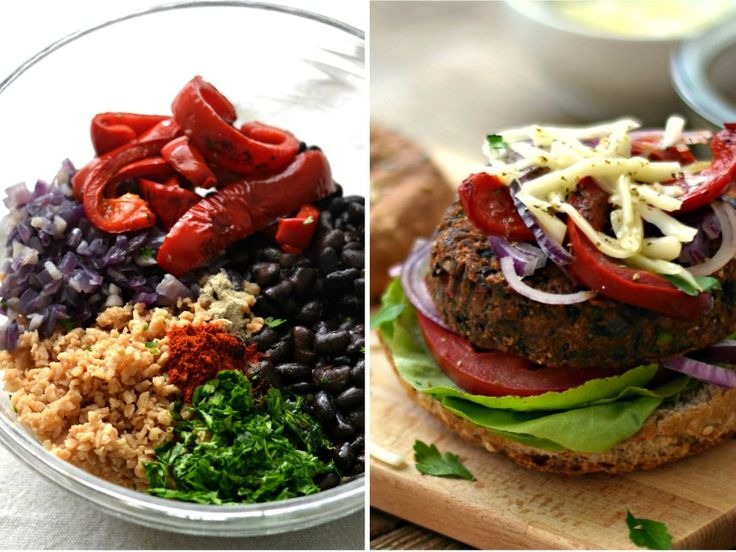 Black bean soy burger