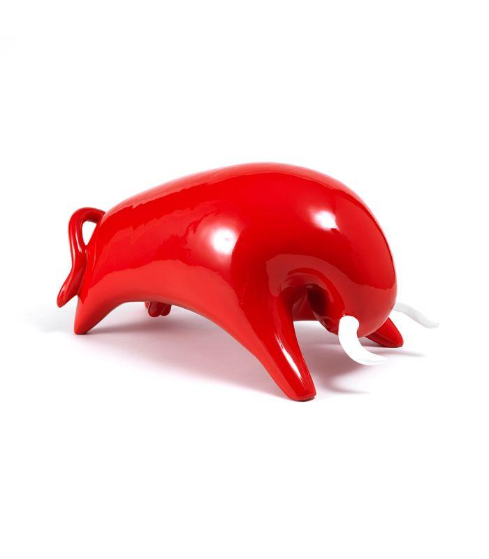 Statue Taureau Rouge - Animal en resine - 53 x 27 x 28 cm Description du modèle :Taureau, forme épurée, couleur rouge avec cornes blanches, finition laquée vernieCaractéristiques :Référence du modèle : ART060Marque : Anim'ArtDimensions : 53 x 27 x 28 cm (Longueur x hauteur x largeur)Poids : 4,00 Kg
