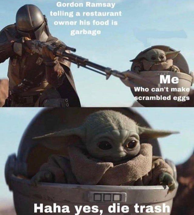 Same Baby Yoda Themandaloriantv Yoda Meme Funny Relatable Memes Really Funny Memes