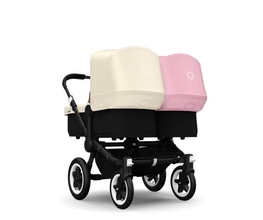 Obsessed with these strollers!  Bugaboo Donkey Twin Stroller in Pink & Off-White 1865USD