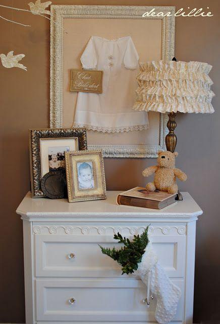 Beautiful baby room decor..dearlillieblog.blogspot.com