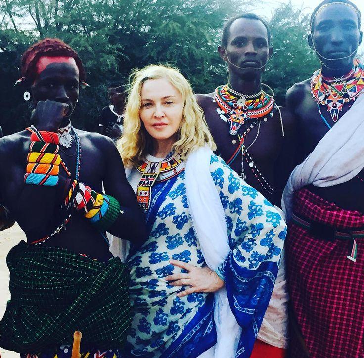 madonna With the Samburu tribe in the Kikuyu valley! 🇰🇪🇰🇪🇰🇪🇰🇪🇰🇪🇰🇪🇰🇪🇰🇪 Kenya!