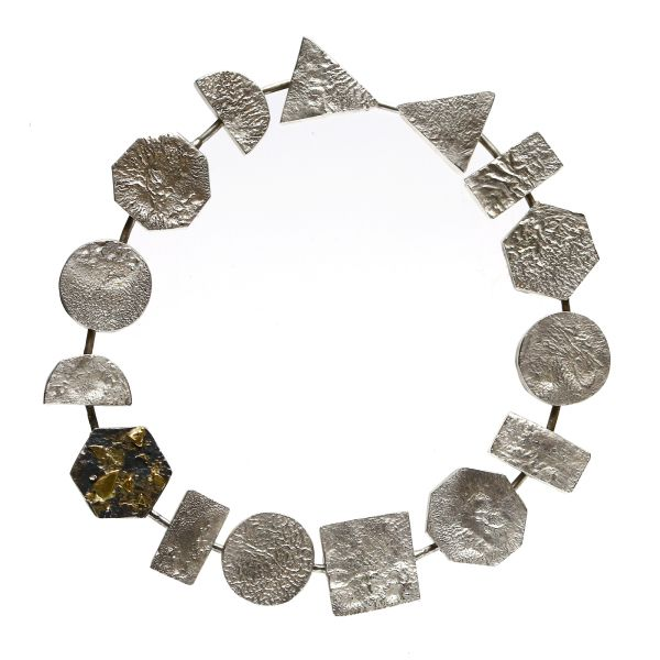 Bracelet with reticulated silver by Metal & Grete