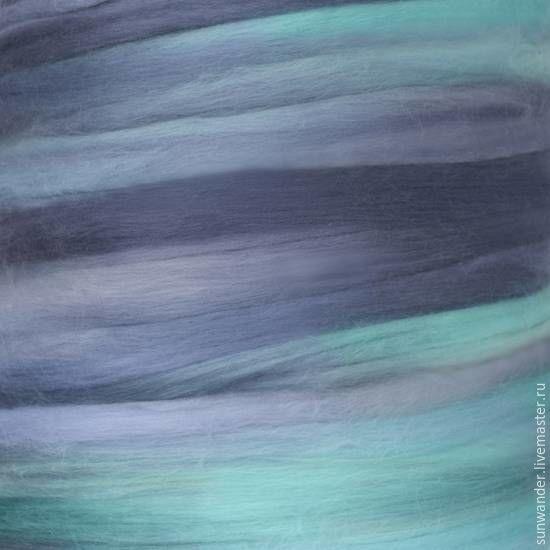 """Купить Топс из экстратонкой шерсти мериноса - серия """"Темпера"""" Звездная ночь - васильковый, шерсть"""