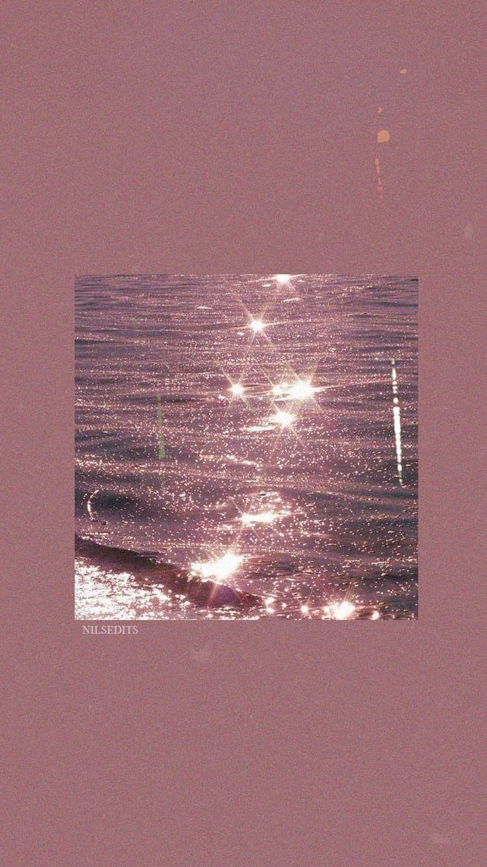 Wallpaper Aesthetic Sea Ocean Shiny Glitter Aesthetic Dark Pink Aesthetic Pastel
