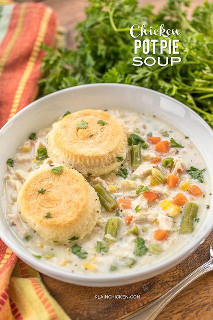 Chicken Pot Pie Soup | Plain Chicken