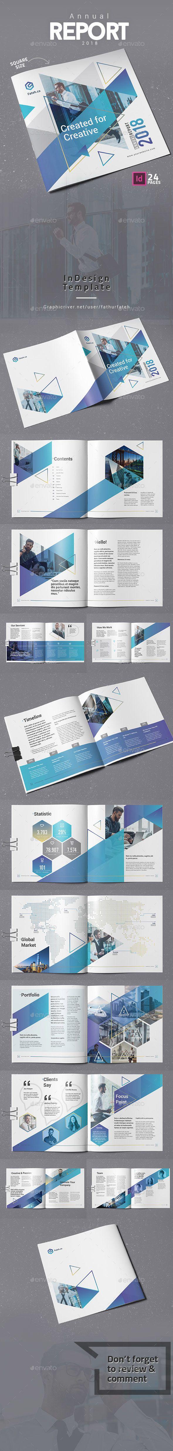 #Annual Report 2018 Square - #Corporate #Brochures