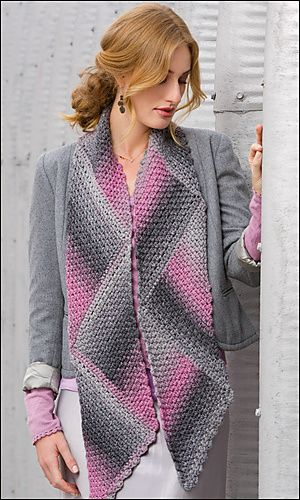 Shaded Triangles Magic Scarf Crochet Pattern | Red Heart