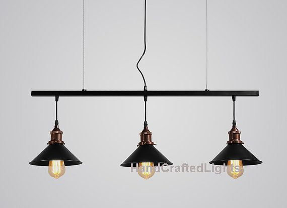 Vintage Retro Industrial ceiling pendant bar 3 by HandCraftedLight