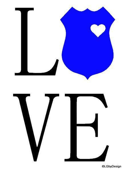 This decal design is perfect for someone that has a significant other that works in law enforcement!
