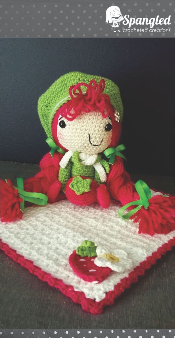Strawberry Picnic Amigurumi Doll by SpangledCrochet on Etsy