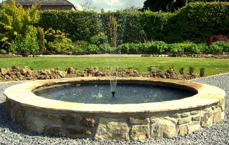 30 best fountains images on pinterest garden fountains for Circular garden ponds