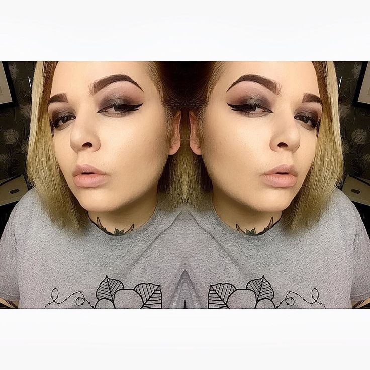 Messing around with makeup because why not... Oh and it's my birthday tomorrow. Nobody likes you when you're 23. kvd foundation prestige eyeliner Nivea for men aftershave balm (primer) smash box contour powder. Anastasia cream contour in fair morphe 35t pallet ABH dip brow in dark brown #makeup #motd #morphe #anastasiabeverlyhill #contour #eyeliner #brows #eyeshadow by holly.gregory.hair