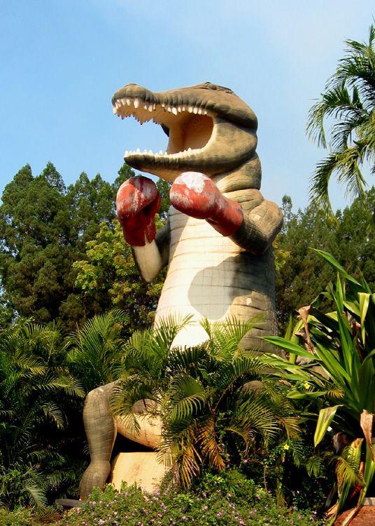 The 26 foot tall Big Boxing Croc in Humpty Doo, Northern Territory.