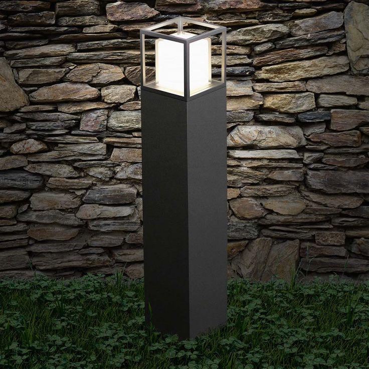 Cube LED Standleuchte 80cm Poller 10W / Schwarz 48583