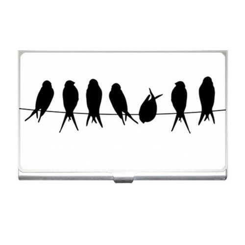 Birds On A Wire Business Credit Card Holder  #Unbranded