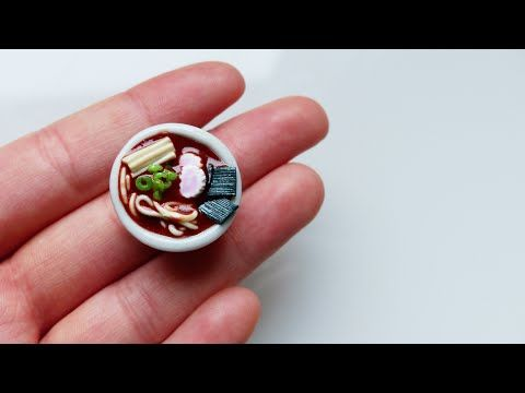 Hey guys! In today's video, I'm showing you how to make a cute miniature râmen out of clay! It's like the 5th tutorial I made about japanese food, I should m...