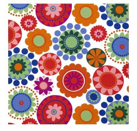 colourful plain flower pattern