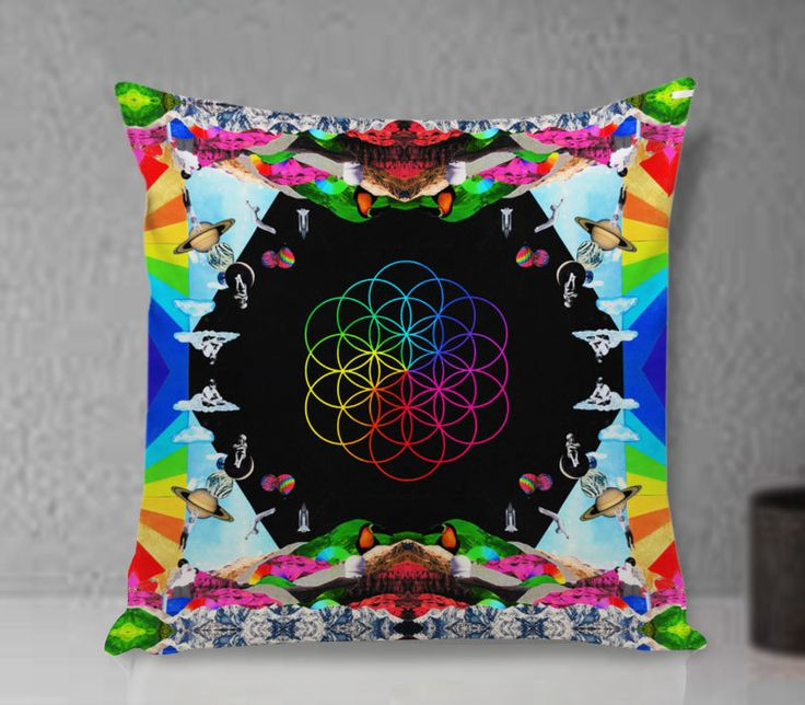 Pillow Cover - Coldplay Head Full Of Dreams Pillow - Custom Pillow cover - Pillowcases by clingartshop on Etsy