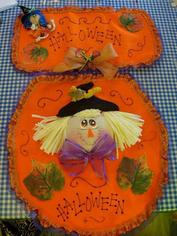 Resultado de imagen para juegos de baño de halloween en fieltro