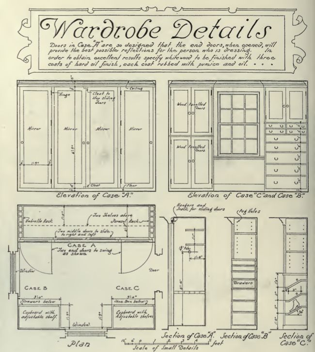 WARDROBES 1920S BUILTINS | Craftsman Online Research