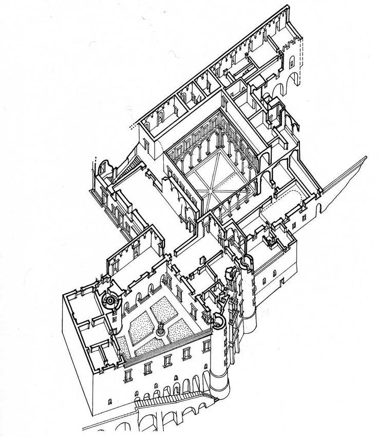 acidadebranca: archimaps: Axonometric Drawing of the Palazzo Ducale, Urbino