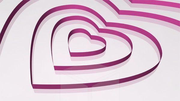 3D Concentric Heart Shapes