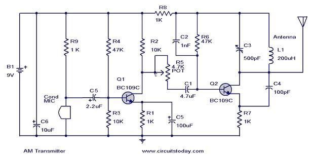 Simple Fm Transmitter Circuit Diagram Nonstopfree Electronic