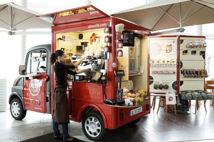 mobile pop up shops mobile pop up store pop up store paris alto cafe instant shop car. Black Bedroom Furniture Sets. Home Design Ideas