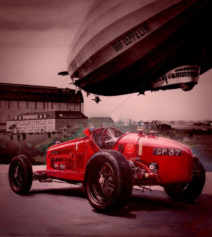 Mikhanizator86 - Alfa Romeo Tipo B (P3) '1934 Акрил 75х55см - Портфолио дизайнеров - Портфолио дизайнеров - Cardesign.ru