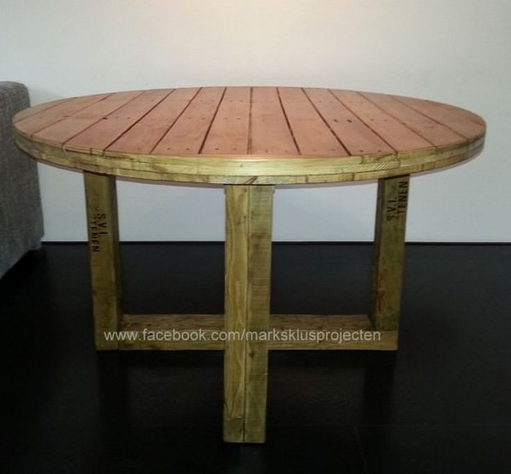 Glass Coffee Tables At Furniture Village: DIY Pallet Round Coffee Table Plans