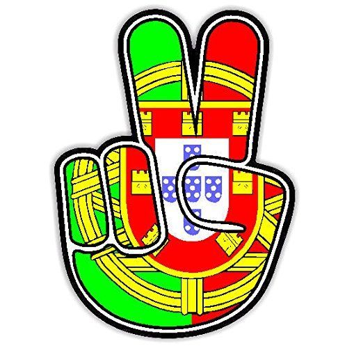 Portugal Flag Peace Car Sticker