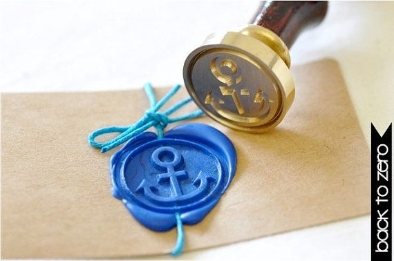 Anchor Gold Plated Wax Seal Stamp x 1 von BacktoZero auf Etsy, $20.00
