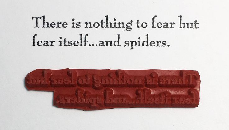 There Is Nothing To Fear But Fear Itself And Spiders - Altered Attic Rubber Stamp - Funny Quote Halloween Greeting Card Art Craft Scrapbook by AlteredAttic on Etsy