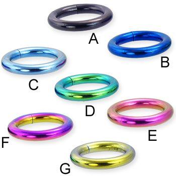 Titanium anodized segment ring, 8 ga