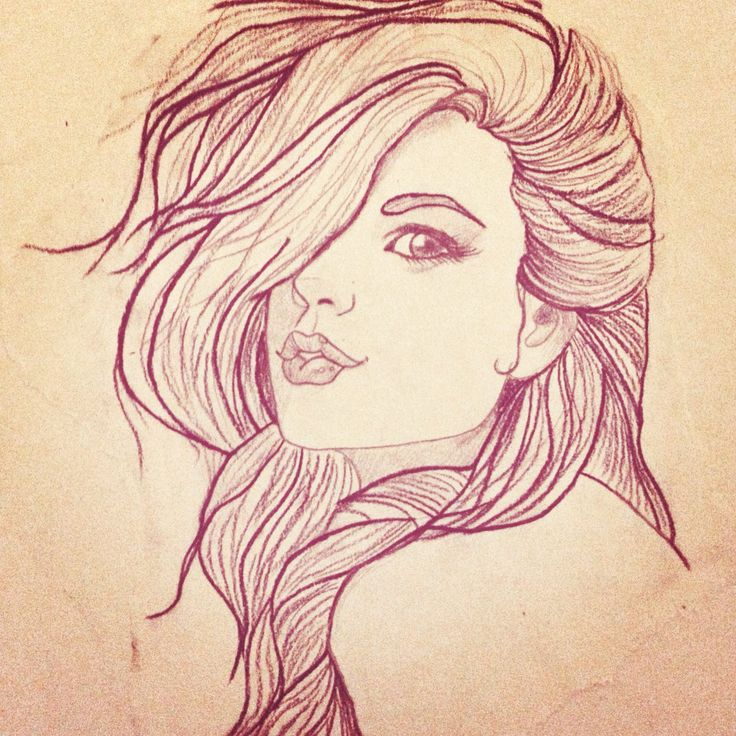 Pin up girl sketch Tattoo