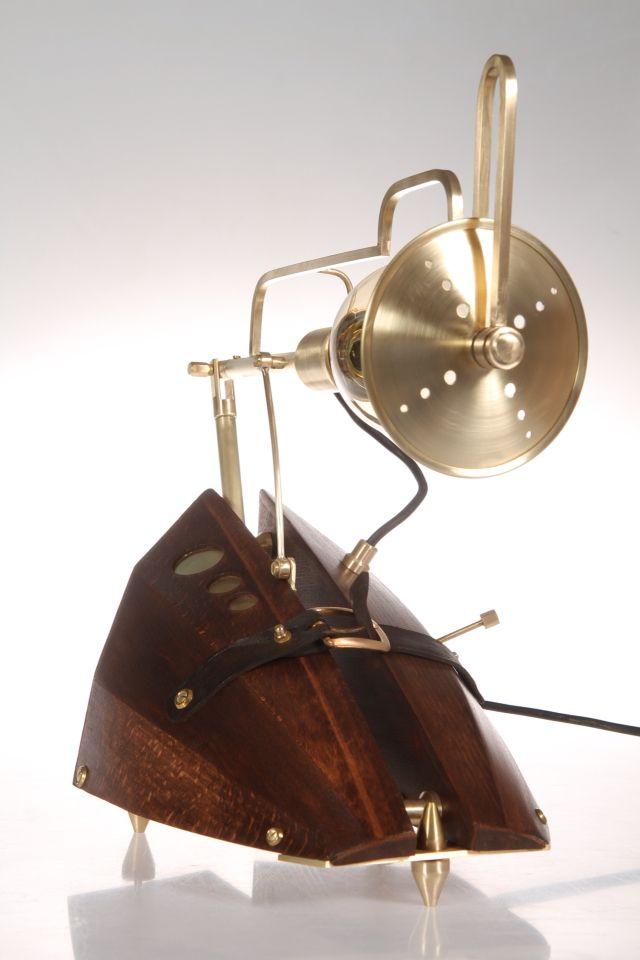 The lamp  made of old rusian music instrumen (balalajka)
