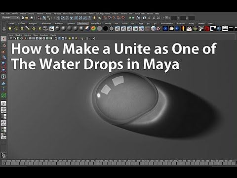 How to Make a Unite as One of The Water Drops in Maya (마야에서 물방울 합치기) - YouTube