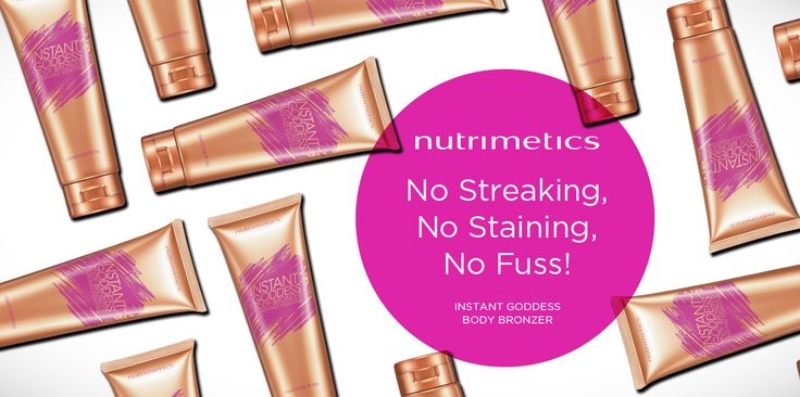 Nutrimetics helps you get that perfect glow with our Instant Goddess Body Bronzer